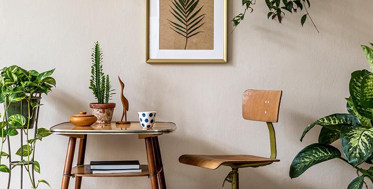 ambiente com decoração estilo vintage