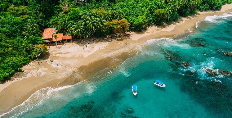 Uma fotografia da ilha Del Caño na Costa Rica.