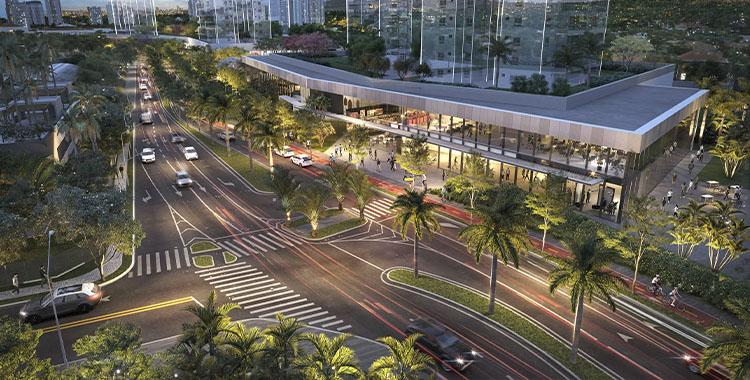 Uma imagem ilustrando uma avenida na cidade de São Paulo