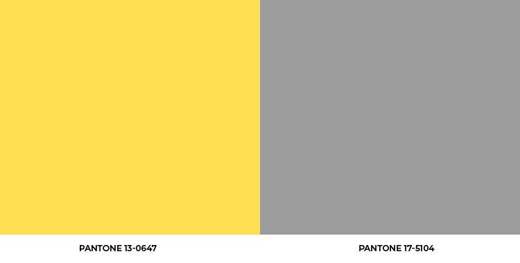 Paleta das duas cores escolhidas para 2021
