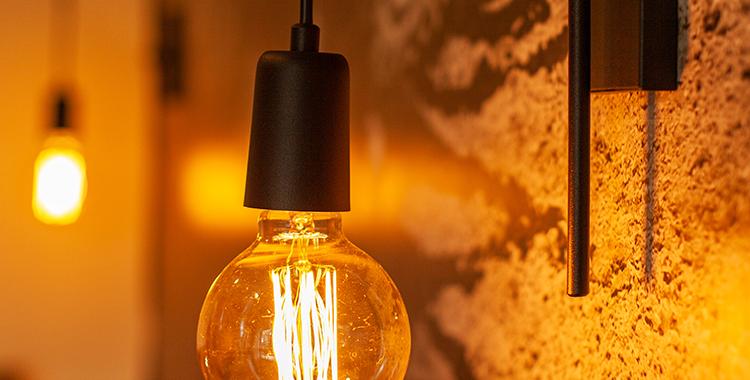 Uma fotografia que ilustra uma luminária.