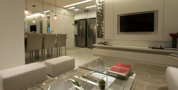 Apartamento Olhar Augusta (Tegra) decorado com cores neutras