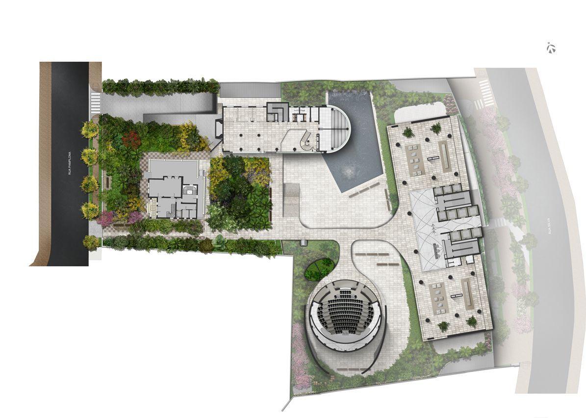 Implantação - Nível da Praça de Convivência