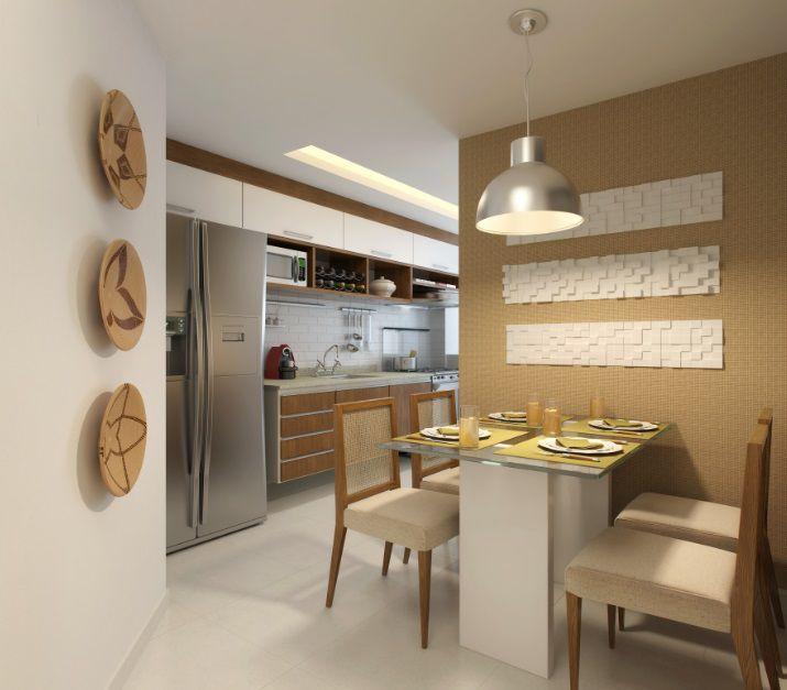 Perspectiva ilustrada da copa cozinha