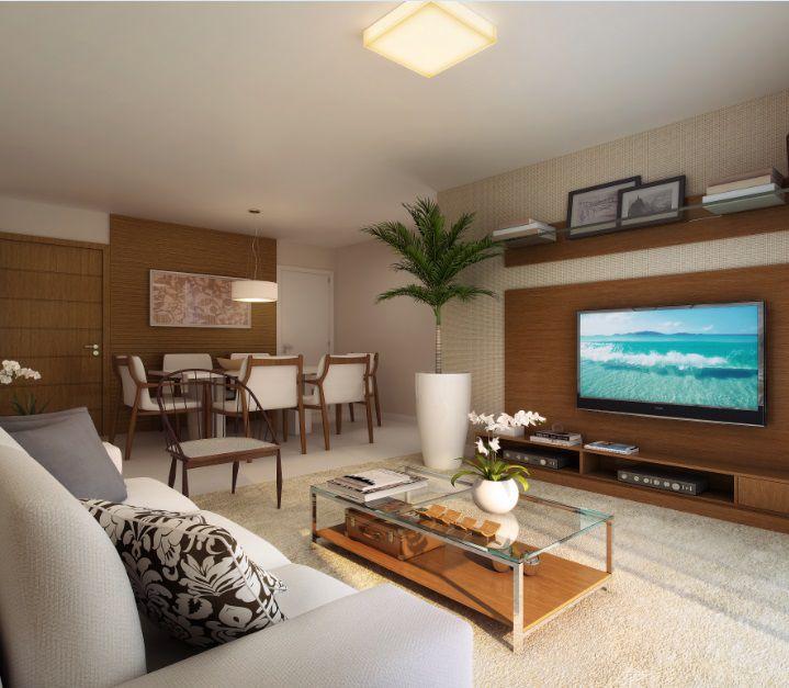 Perspectiva ilustrada da sala de estar