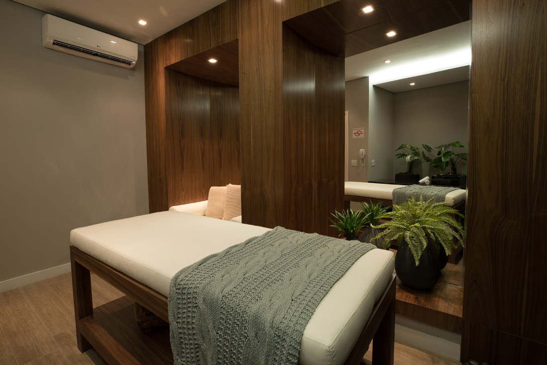 Foto da sala de massagem