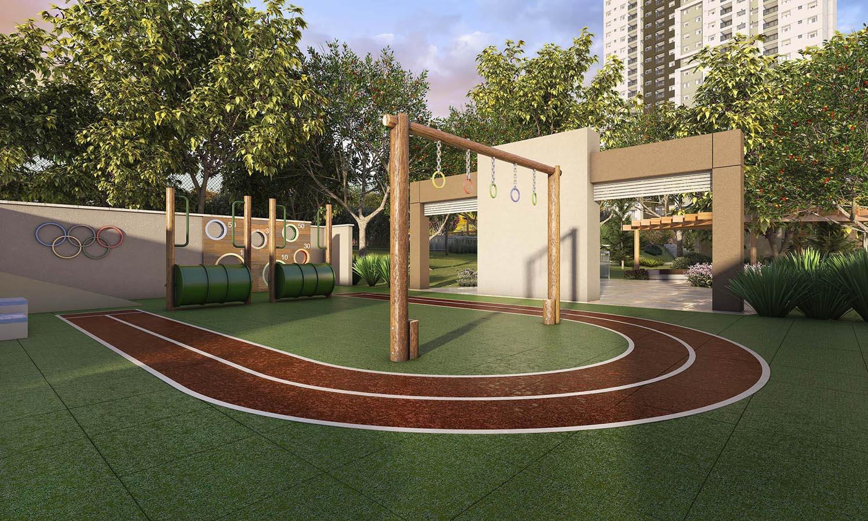 Perspectiva ilustrada do Playground Infanto-juvenil.