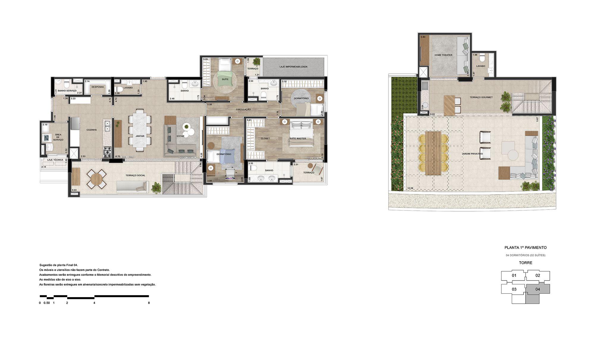 Cobertura (1° pavimento)