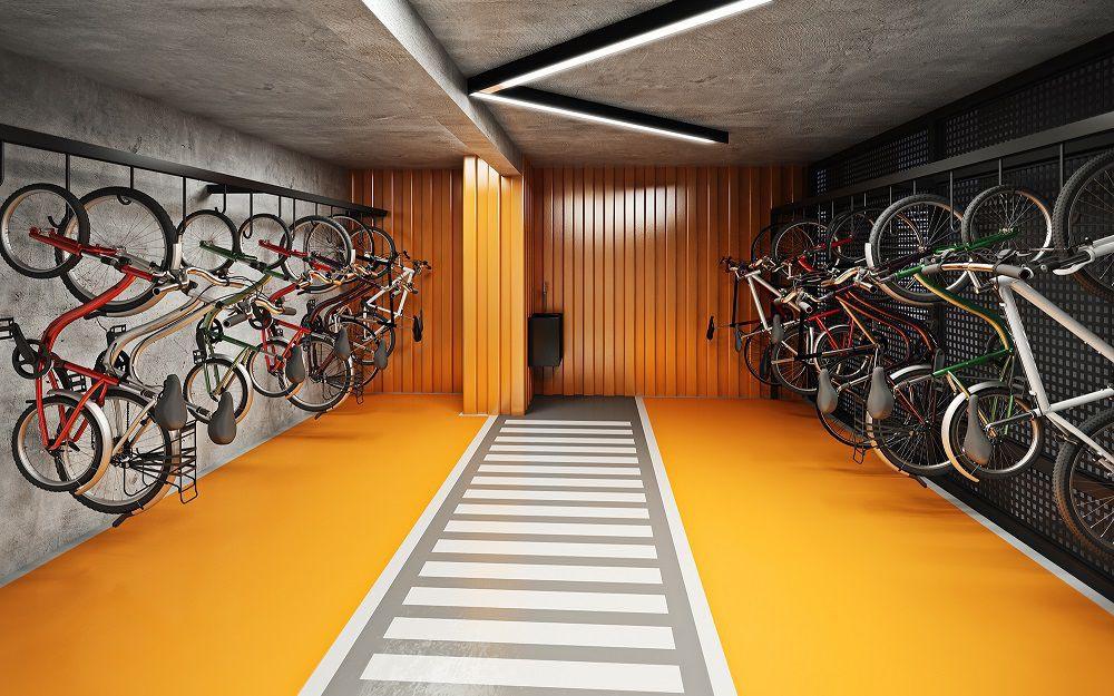 Perspectiva artística do Bicicletario.