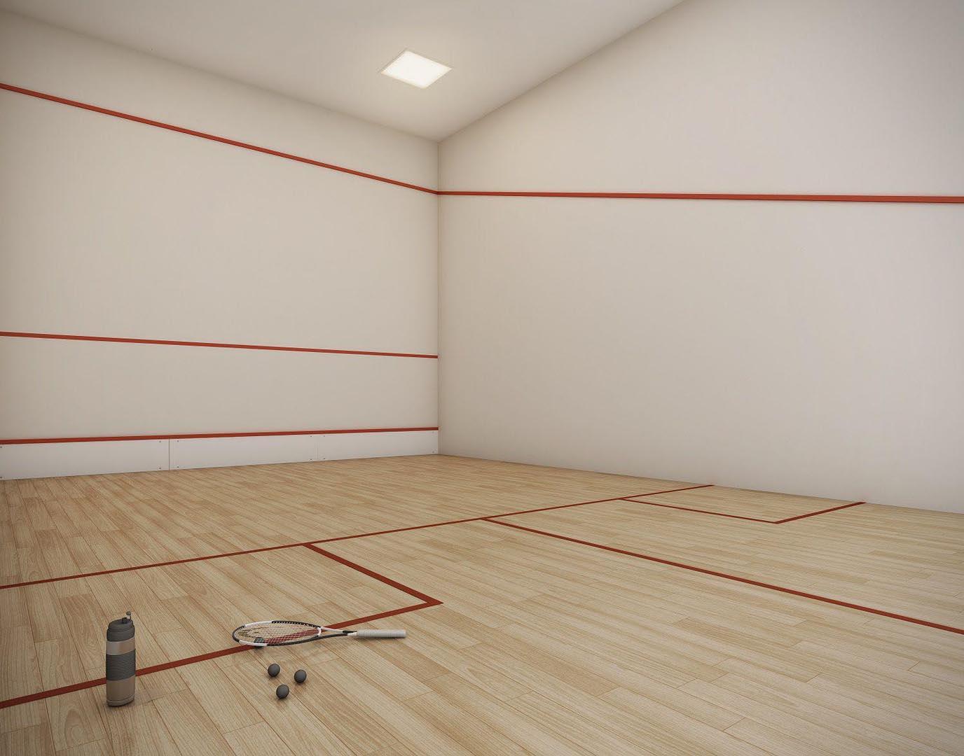 Perspectiva ilustrada Quadra de Squash.