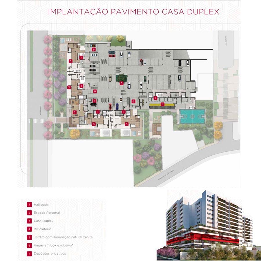 Implantação - Pav. Casa Duplex