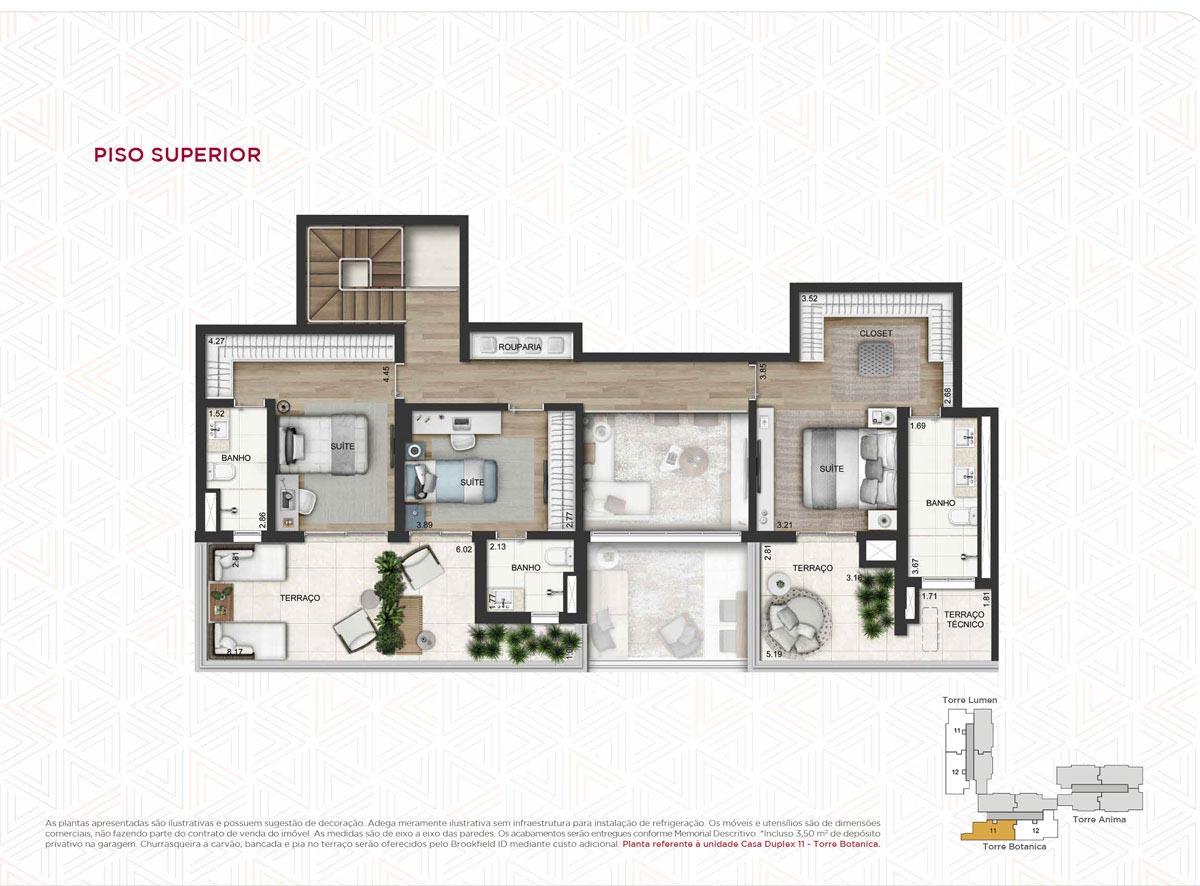 Casa Duplex 275m² priv.(Piso Superior)