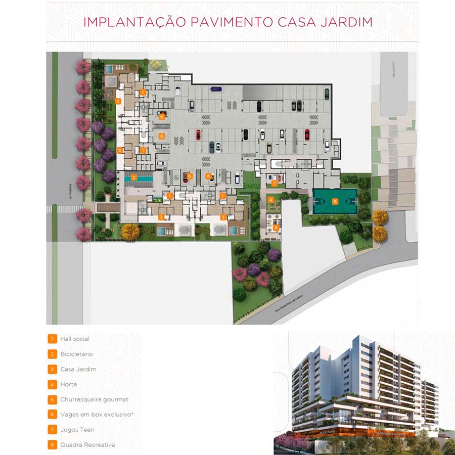 Implantação - Pav. Casa Jardim