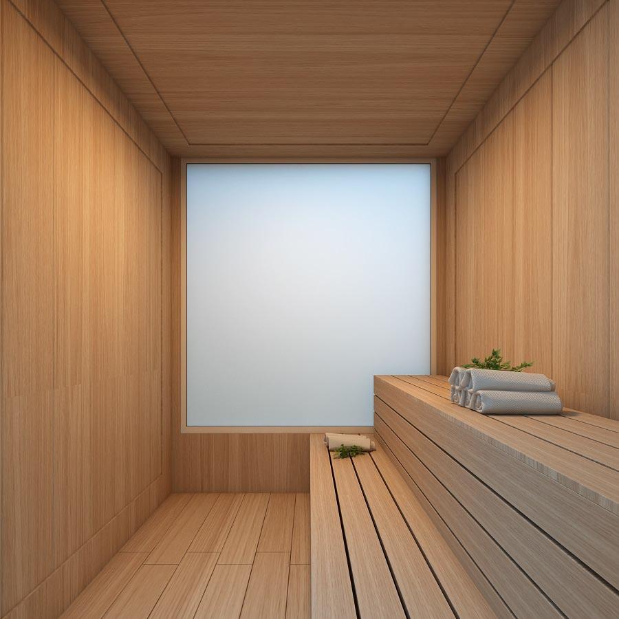 Perspectiva ilustrada da Sauna.