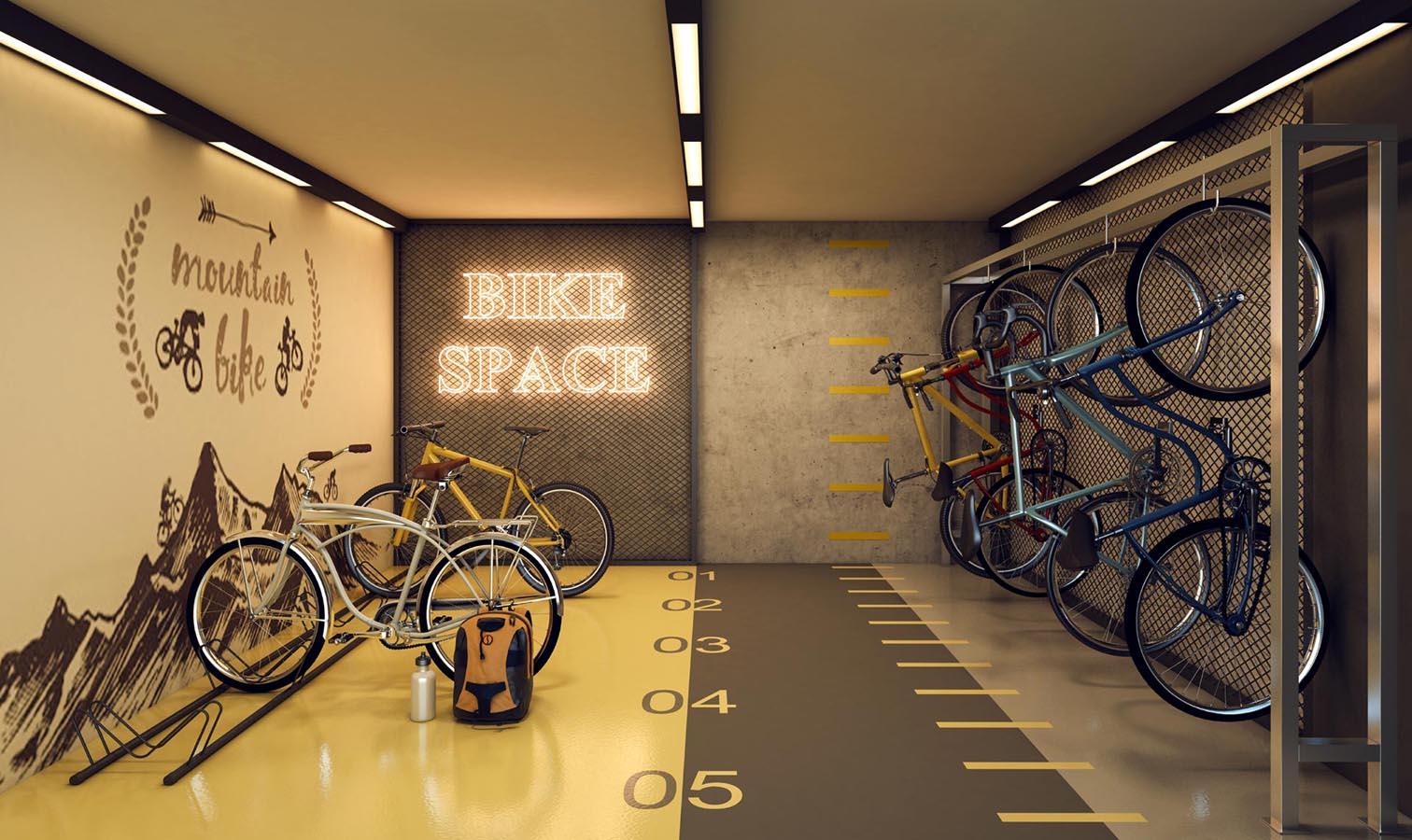 Perspectiva ilustrada do Bicicletário, sujeita à alteração.