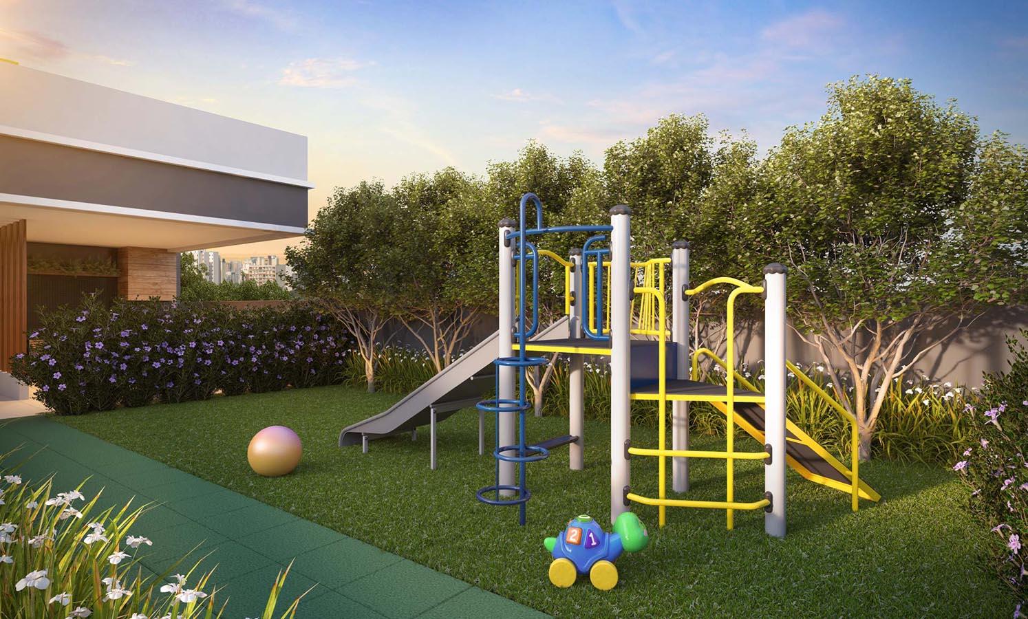 Perspectiva ilustrada do Playground, sujeita à alteração.