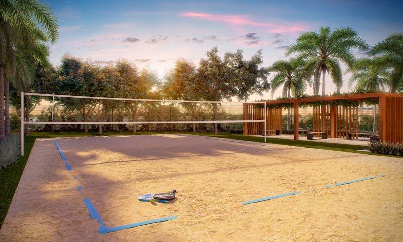 Perspectiva Ilustrada Externa da Quadra de Beach Tenis