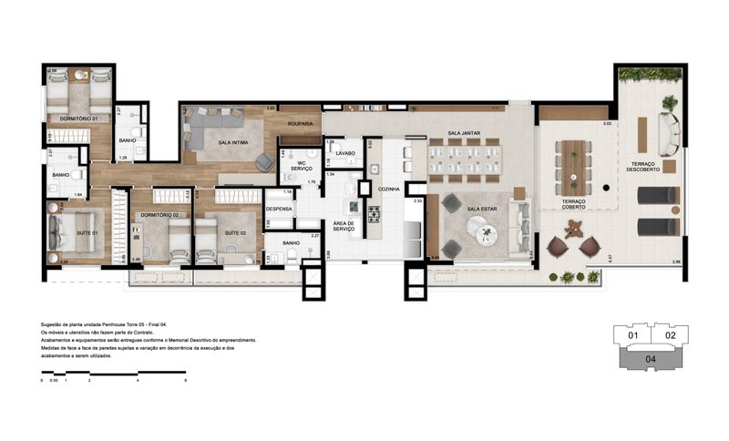 Planta Penthouse - Torre 5 Final 4