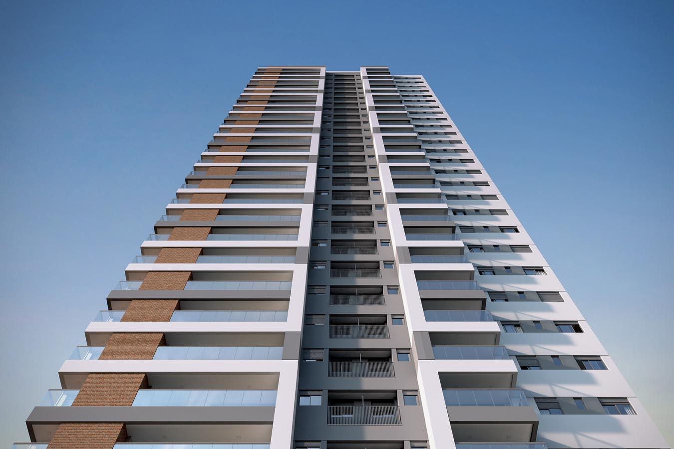 Perspectiva ilustrada da fachada