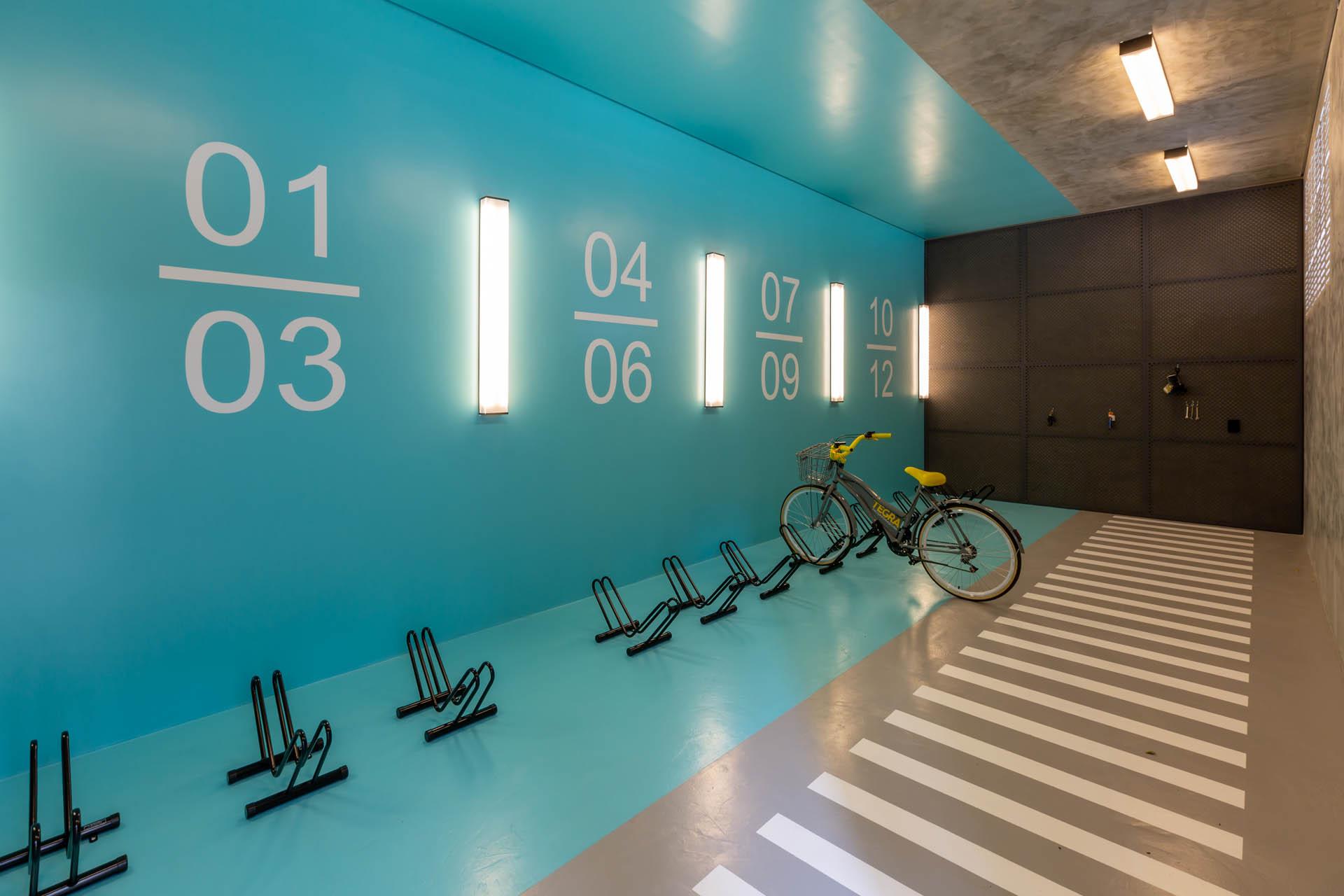 Foto do bicicletário Grand One