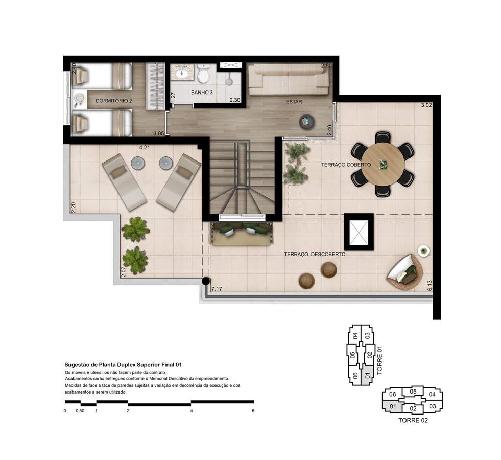 Planta Duplex Superior - 170m²