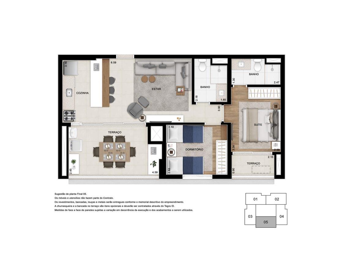 Apto. 71 m²