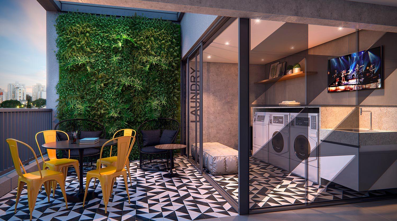 Perspectiva ilustrada da lavanderia (Studio&Offices)