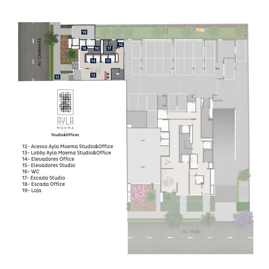 Implantação Ayla Moema - Studio&Offices
