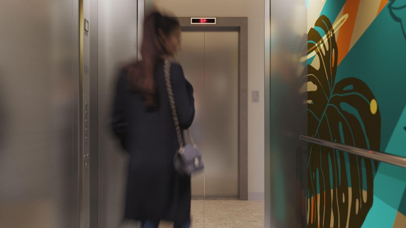 Perspectiva ilustrada do elevador