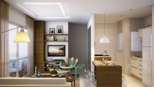 Perspectiva ilustrada do Apartamento tipo 1