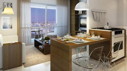 Perspectiva ilustrada do Apartamento tipo 2