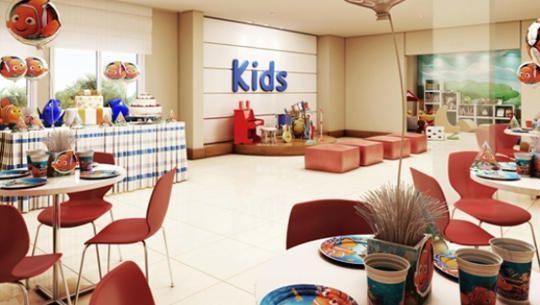 Perspectiva ilustrativa do Salão de Festas Infantil
