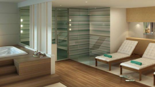 Perspectiva Ilustrada do Repouso com Hidro e Sauna