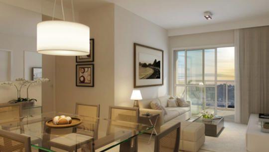 Living apartamento de 3 quartos