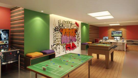 Perspectiva Ilustrada do Salão de jogos juvenil e Lan House