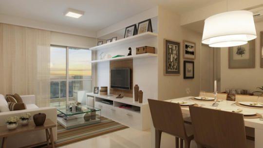 Living apartamento de 2 quartos