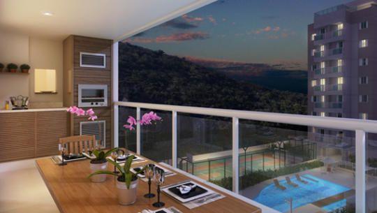 Perspectiva Ilustrada da Fotomontagem da varanda